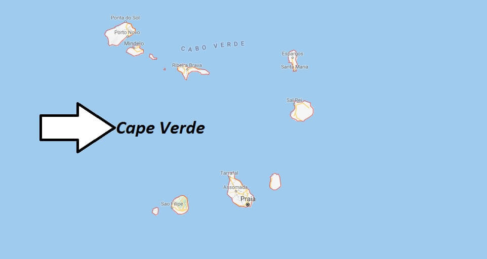 Cape Verde on Map