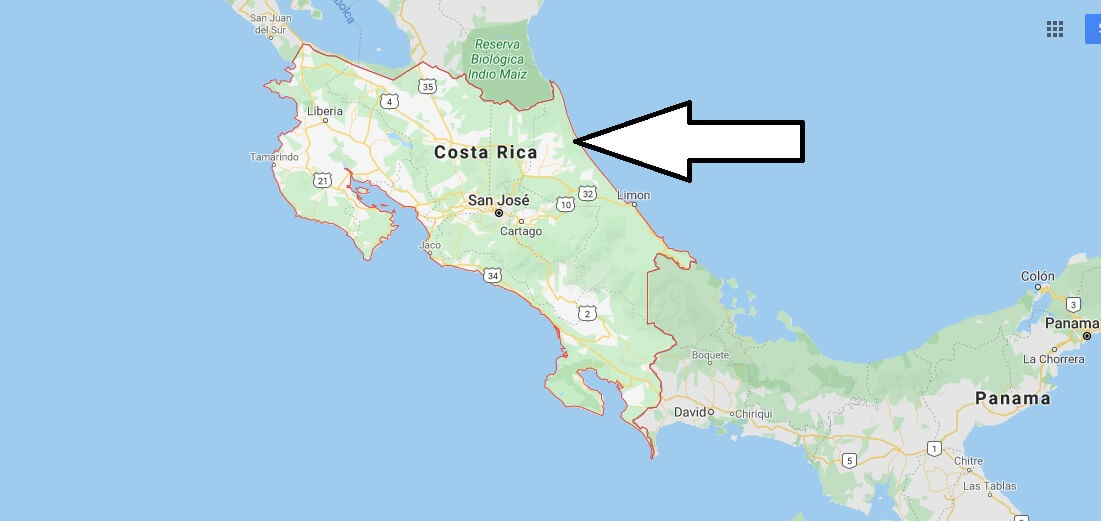 Costa Rica on Map