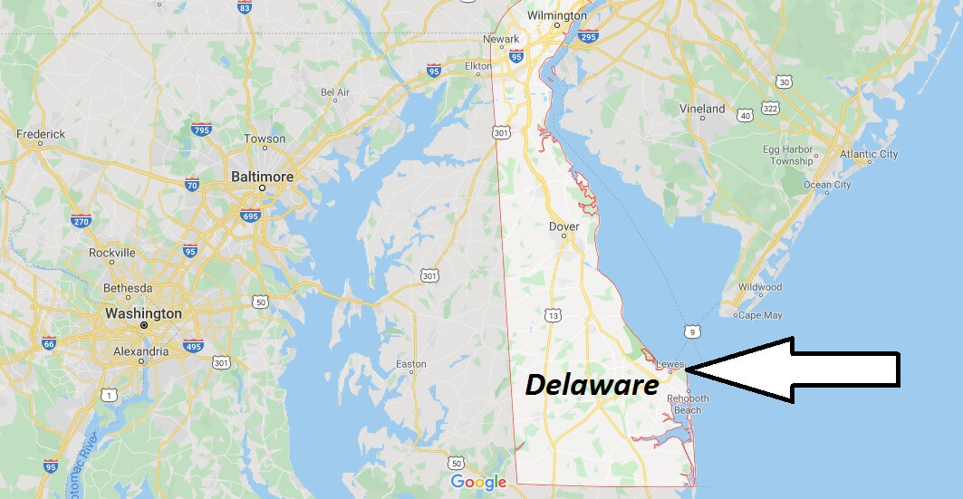 Delaware on Map