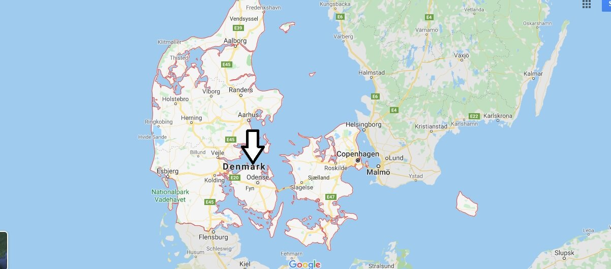 Denmark on Map