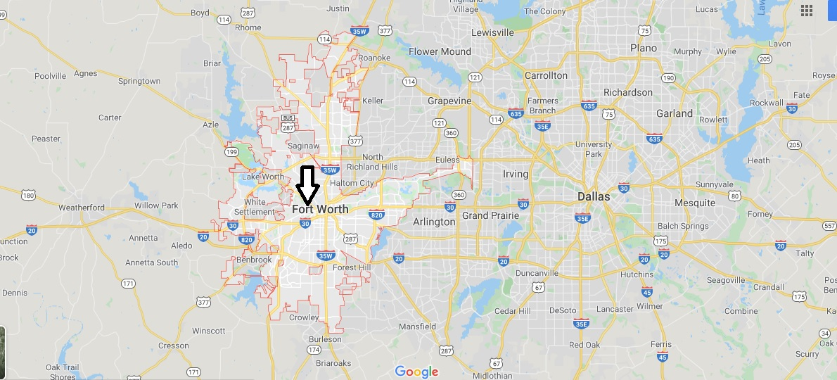 Fort Worth on Map
