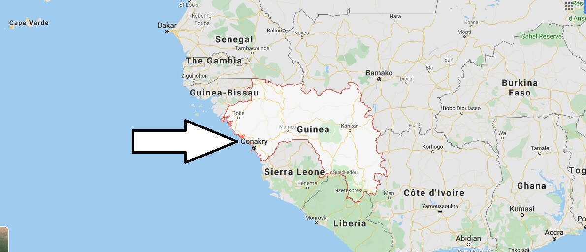 Guinea on Map