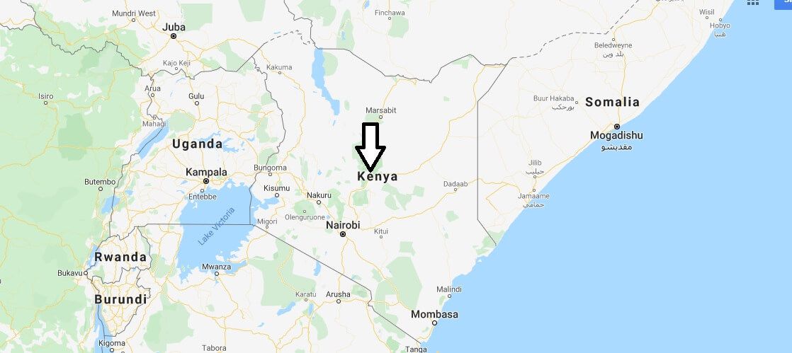 Kenya on Map