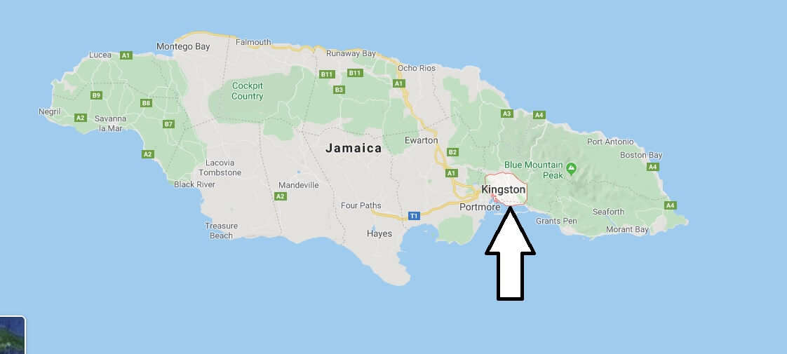 Kingston on Map