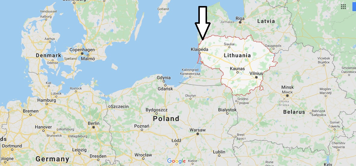 Lithuania on Map