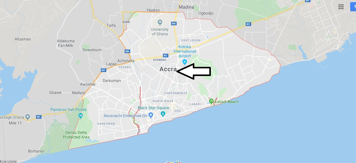Map of Accra
