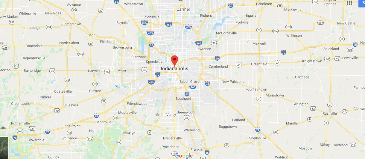 Map of Indianapolis