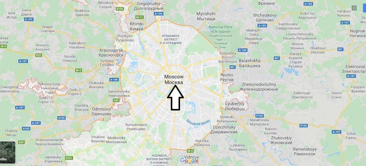 Moscow on Map