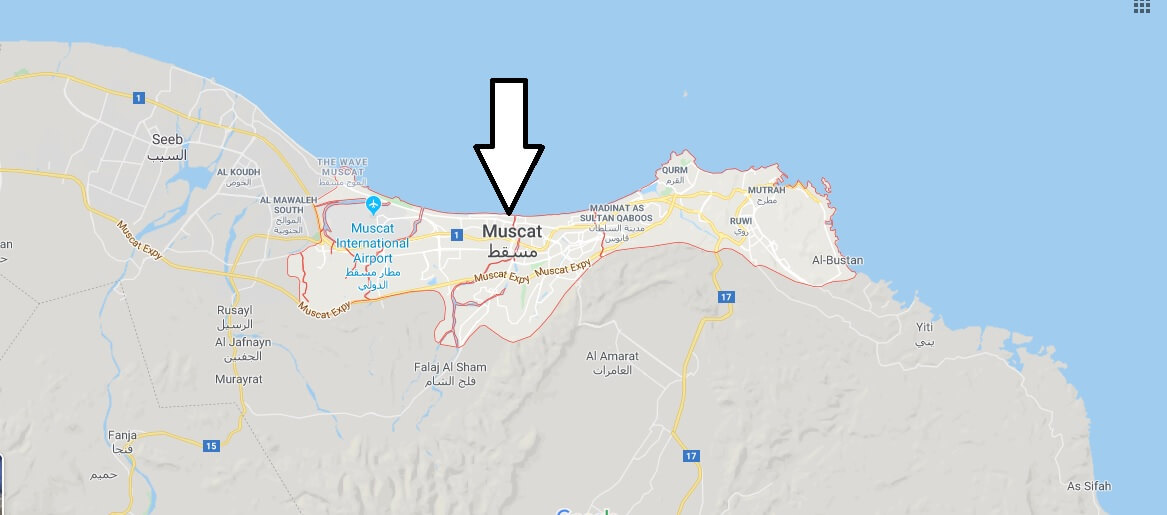 Muscat on Map
