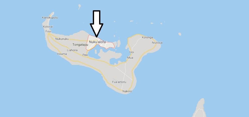 Nukualofa on Map