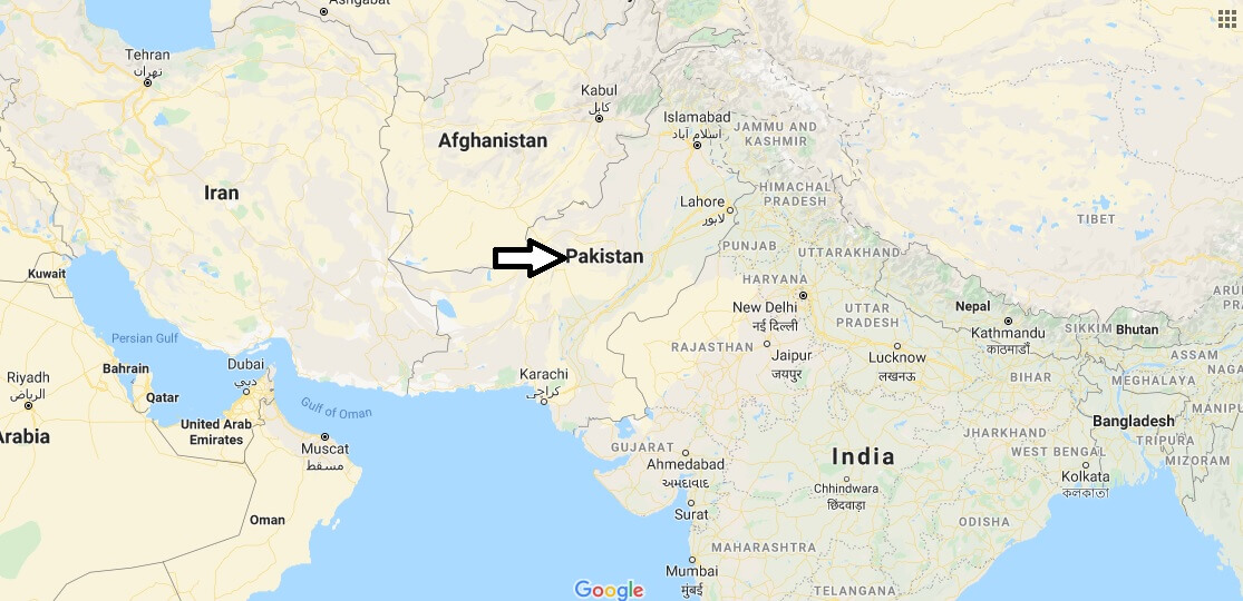 Pakistan on Map