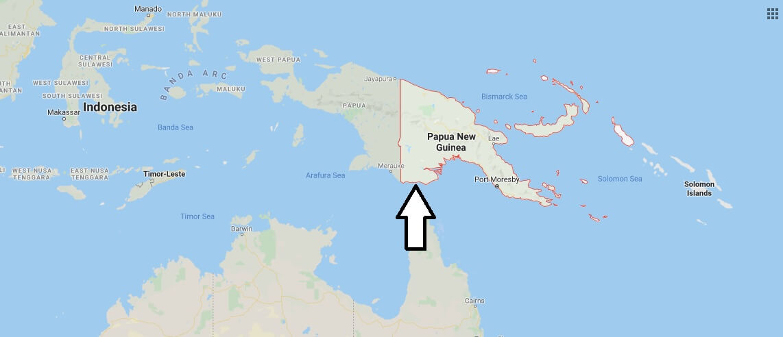 Papua New Guinea on Map