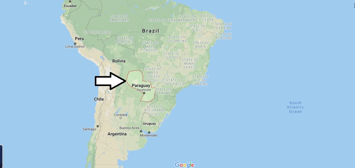 Paraguay on Map