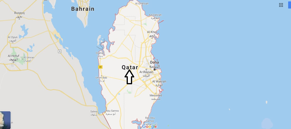 Qatar on Map