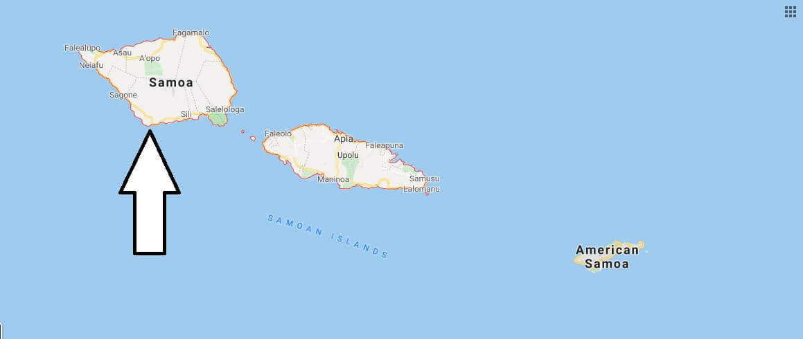 Samoa on Map