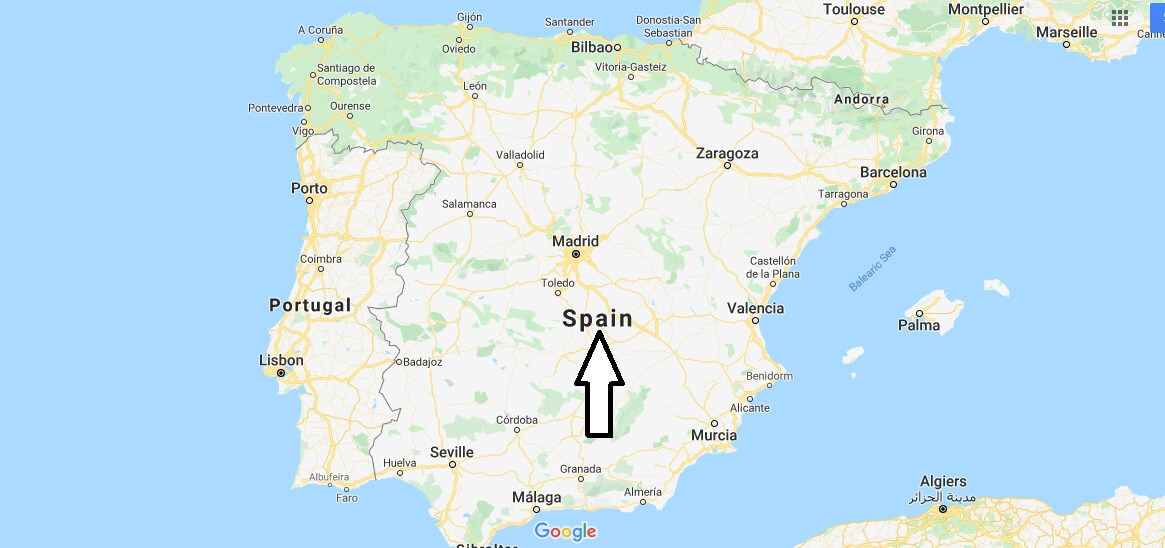 Spain on Map