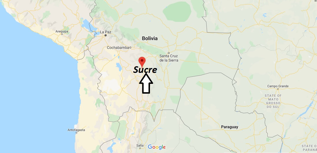 Sucre on Map