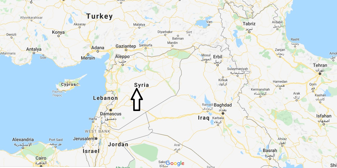 Syria on Map
