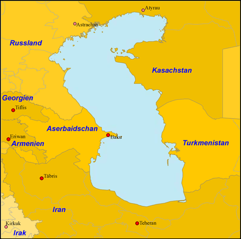 What country is the Caspian Sea in