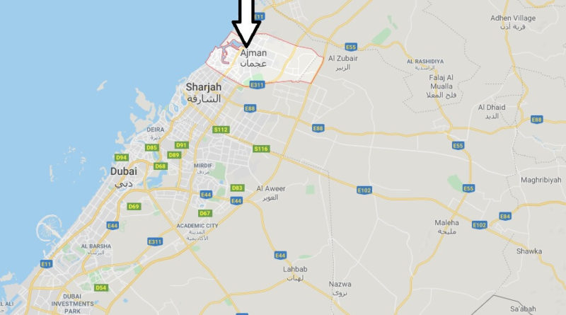 Where is Ajman Located? What Country is Ajman in? Ajman Map