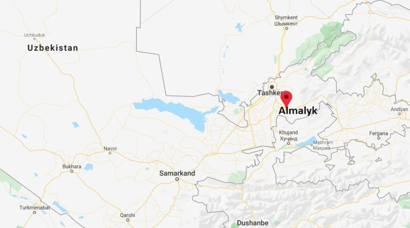 Where is Almalyk Located? What Country is Almalyk in? Almalyk Map
