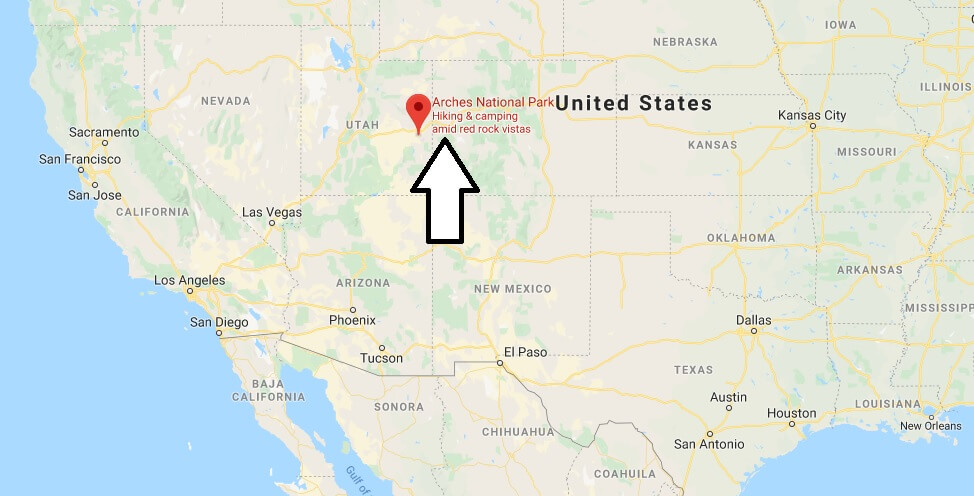 Where is Arches National Park Located? What Country is Arches National Park in? Arches National Park Map