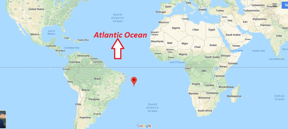 Where is Atlantic Ocean? Which countries are in the Atlantic Ocean?