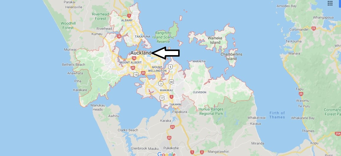 Where is Auckland Located? What Country is Auckland in? Auckland Map