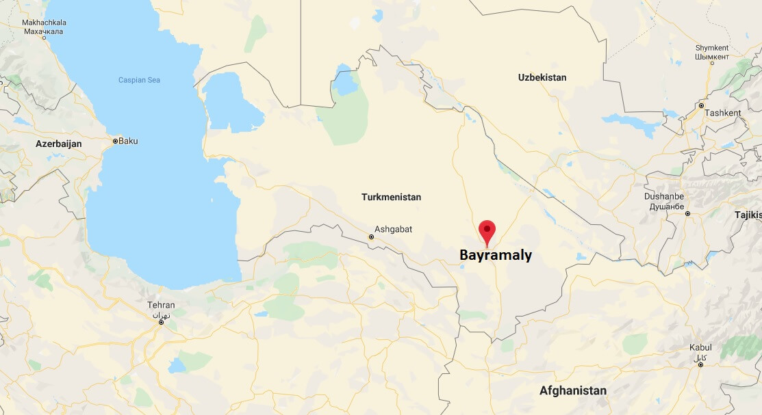 Where is Bayramaly Located? What Country is Bayramaly in? Bayramaly Map