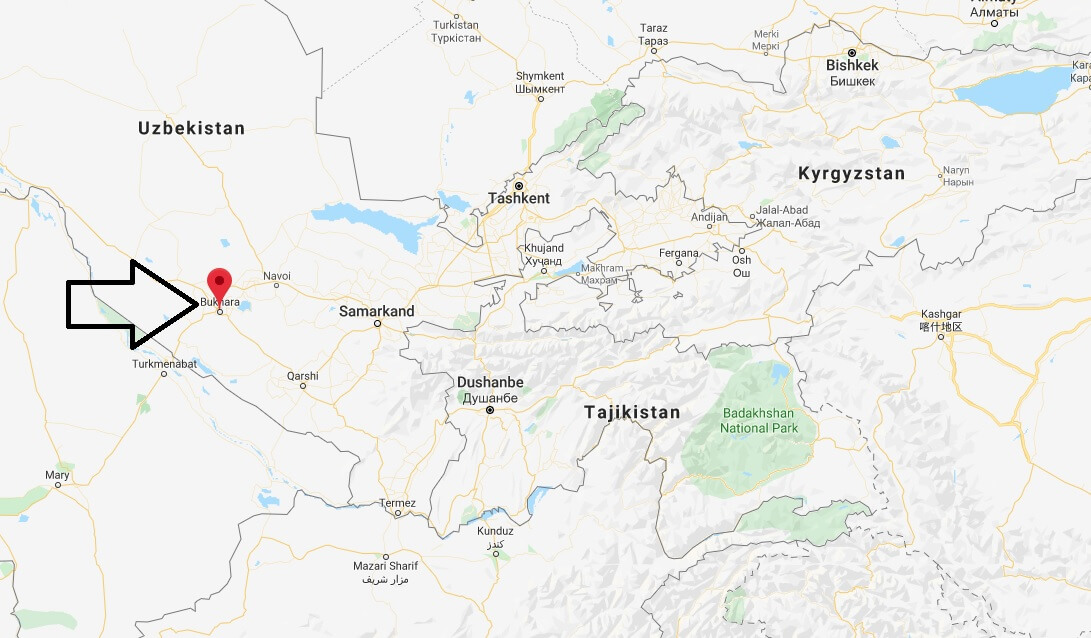 Where is Bukhara Located? What Country is Bukhara in? Bukhara Map