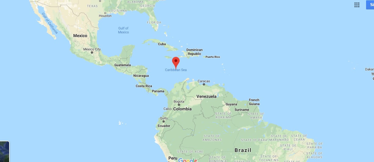 Where is Caribbean Sea? What are the countries in the Caribbean Sea?