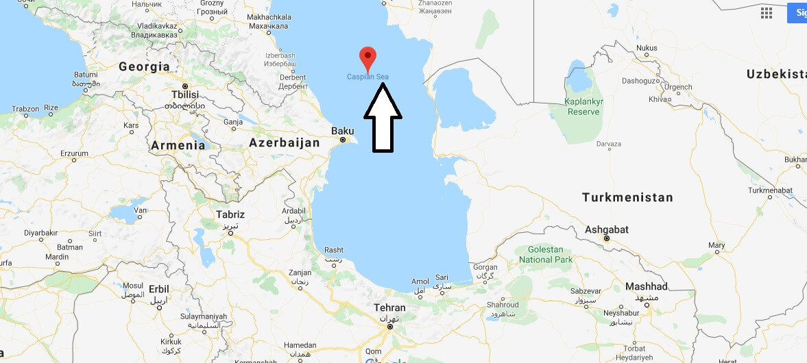 Where is Caspian Sea? What country is the Caspian Sea in?