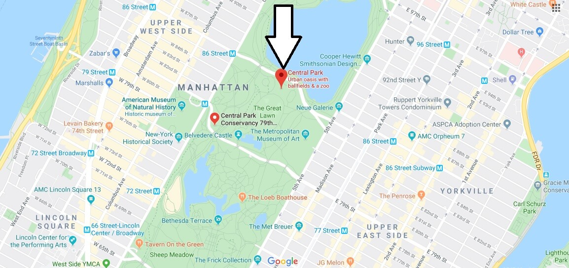 Where is Central Park Located? What Country is Central Park in? Central Park Map