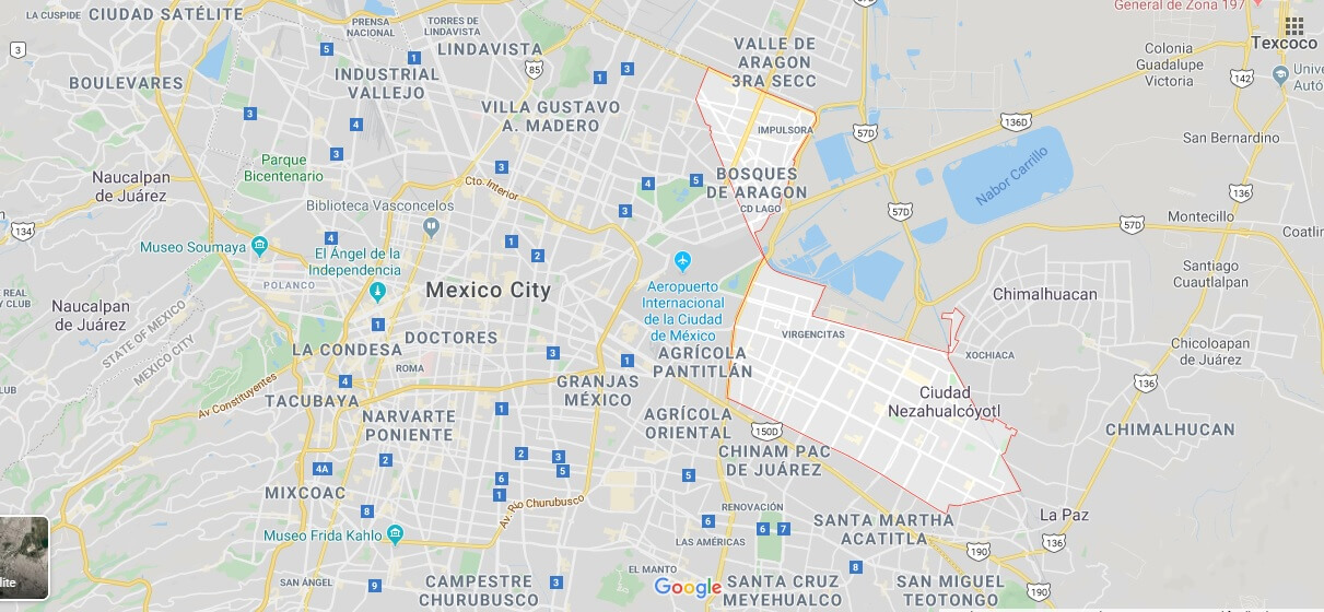 Where is Ciudad Nezahualcoyotl Located? What Country is Ciudad Nezahualcoyotl in? Ciudad Nezahualcoyotl Map