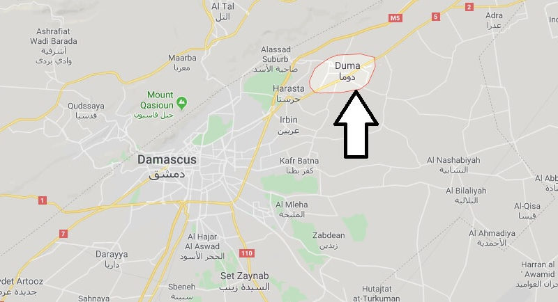 Where is Douma Located? What Country is Douma in? Douma Map