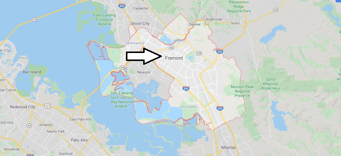 Where is Fremont Located What Country is Fremont in Fremont Map
