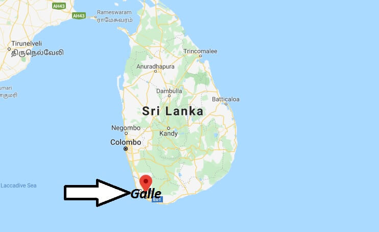 Where is Galle Located? What Country is Galle in? Galle Map