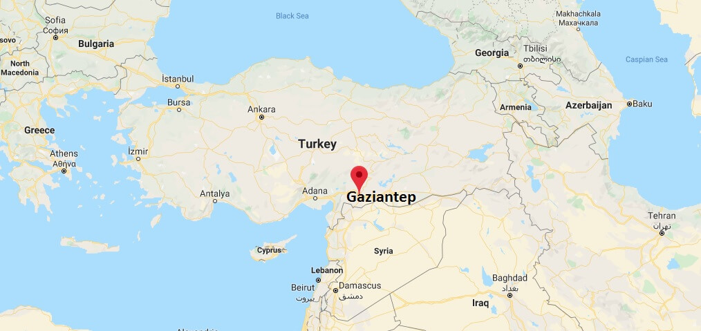 Where is Gaziantep Located? What Country is Gaziantep in? Gaziantep Map