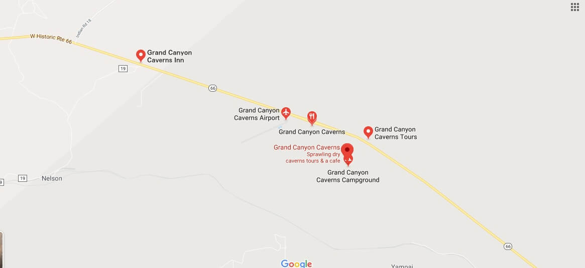 Where is Grand Canyon Caverns?