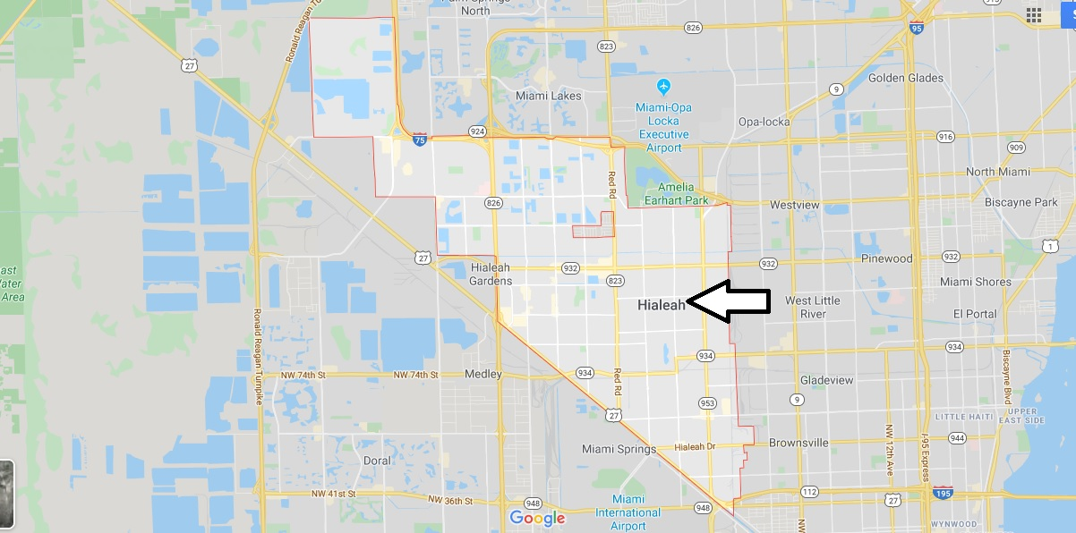 Where is Hialeah Located What Country is Fremont in Hialeah Map