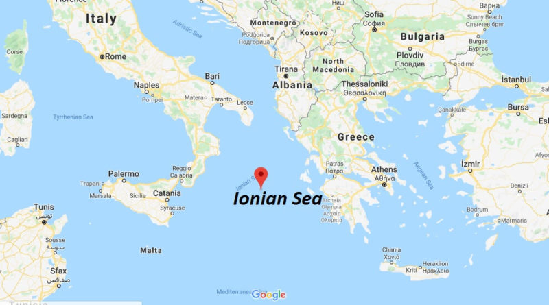 Where is Ionian Sea? What countries border the Ionian Sea?