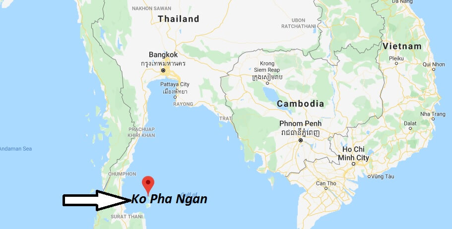 Where is Ko Pha Ngan Located? What Country is Ko Pha Ngan in? Ko Pha Ngan Map