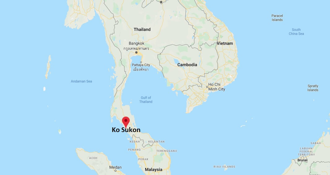 Where is Ko Sukon Located? What Country is Ko Sukon in? Ko Sukon Map