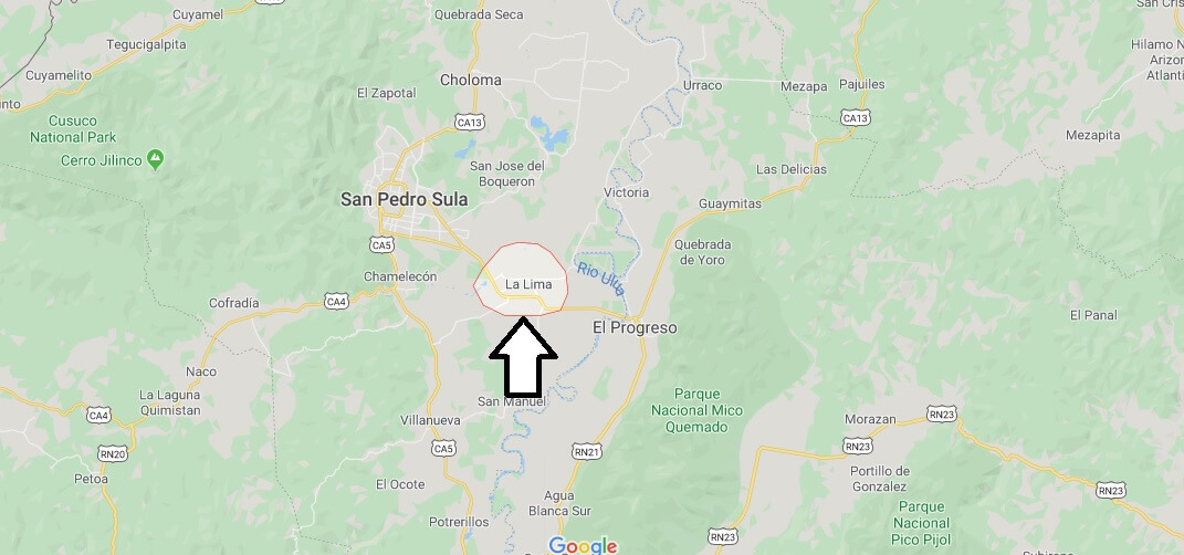 Where is La Lima Located? What Country is La Lima in? La Lima Map