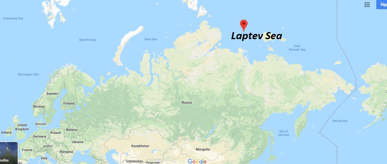 Where is Laptev Sea?
