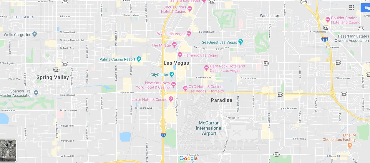 Where is Las Vegas Strip Located? Where does the Vegas strip start and end?