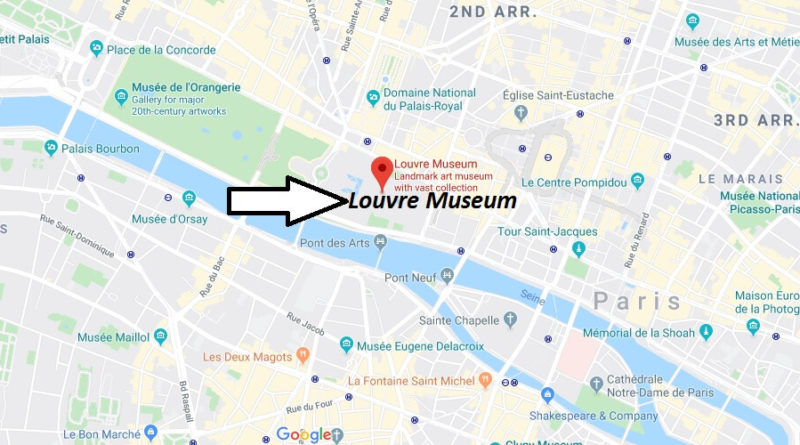Where is Louvre Museum Located? What Country is Louvre Museum in? Louvre Museum Map