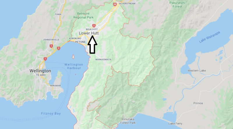 Where is Lower Hutt Located? What Country is Lower Hutt in? Lower Hutt Map