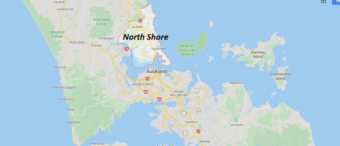 Where is North Shore Located? What Country is North Shore in? North Shore Map