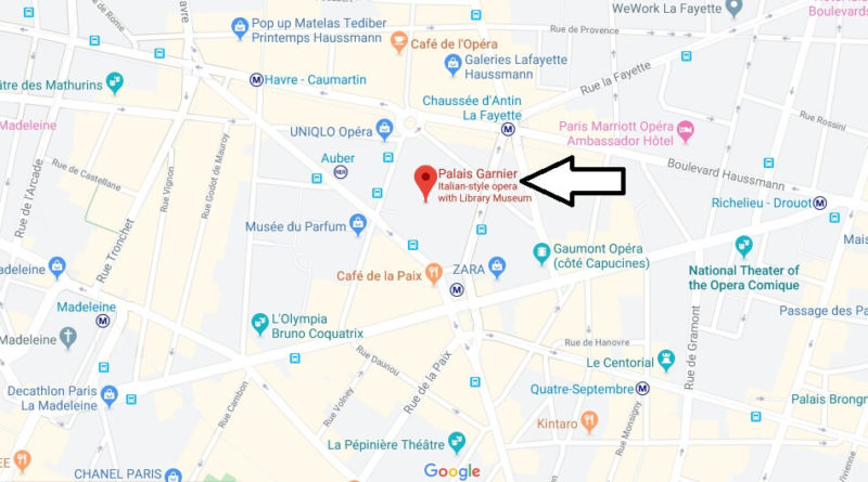 Where is Palais Garnier Located? What Country is Palais Garnier in? Palais Garnier Map